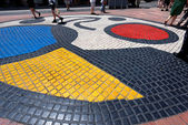 Mosaic by Joan Miro - Barcelona Spain — Stock Photo