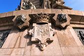 Monument to Christopher Columbus - Barcelona — Stock Photo