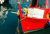Fishing Boats in the Harbor - Liguria Italy — Stock Photo
