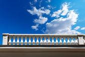 Balustrade Pillars on a Cloudy Sky — Stock Photo