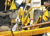 Fishing Equipment  in the Harbor - Liguria Italy — Stock Photo