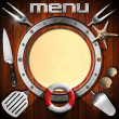 Wooden Menu with Metal Porthole — Stock Photo #51615435