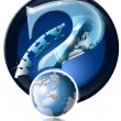 Icon Why global questions? — Stock Photo #5877596