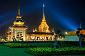 The royal cremation ceremony at night — Stock Photo