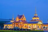 The royal cremation ceremony place at sunset — Stock Photo