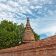 Ancient pagoda in ruined old temple — Stock Photo
