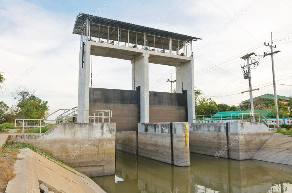 Water Canal Gate http://depositphotos.com/13246067/stock-photo-Water-and-dam-gate-in-an-irrigation-canal.html