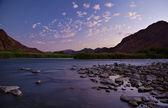 Richtersveld Orange River sunset — Stock Photo