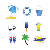Beach stuff vector illustration — Stock Vector