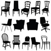 Chair art vector illustration in black color — Stock vektor