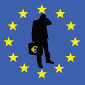 Concern for the survival of the euro — Stockvektor
