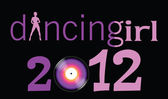 Dancing girl with 2012 year illustration — Stock Vector