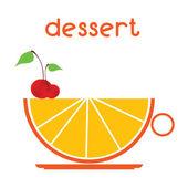 Dessert vector illustration — Stockvektor