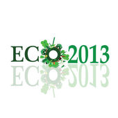 Eco 2013 sign illustration — Stock Vector
