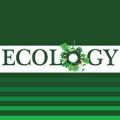 Ecology word for background illustration — Stockvektor