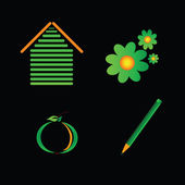 Eco signo vector de color — Vector de stock