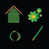 Eco zeichen farbvektor — Stockvektor