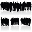 People group silhouette — Stock Vector #39865485