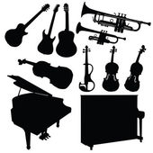 Music instrument black — Stockvector