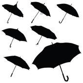 Umbrella black silhouette vector — Stock Vector