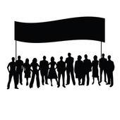 People vector silhouette — Stockvektor