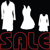 Sale with clothes sign vector — Stock Vector