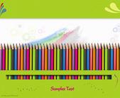 Boîte de crayons de couleur pour les enfants — Photo