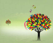 Colorful fairy tree — Stock Photo