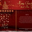 Red Christmas and New Year card — Stock Photo
