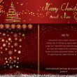 Stock Photo: Red Christmas and New Year card