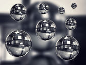 Transparent spheres — Stock Photo