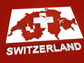 Switzerland maps 3D — Stock Photo