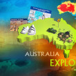 Australia Explore poster promorion. — Stock Photo