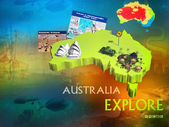 Australia Explore poster promorion. — Stock Photo