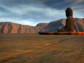 Buddha in an empty land — Zdjęcie stockowe