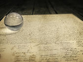 U.S. Constitution on the table — Foto Stock
