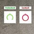 "Stock Photo: Icones With these icons you cindicate ""locked or unlocked"""