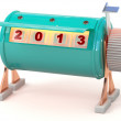 New year 2013 counter. 3D model — Stock Photo