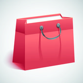 Gift shopping bag.Vector illustration — Stock Vector