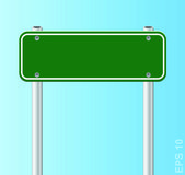 Blank traffic road sign. Vector illustration — Stock Vector