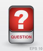 Question mark icon. Vector button — Stock Vector