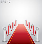 Red carpet. Vector illustration — Stock Vector