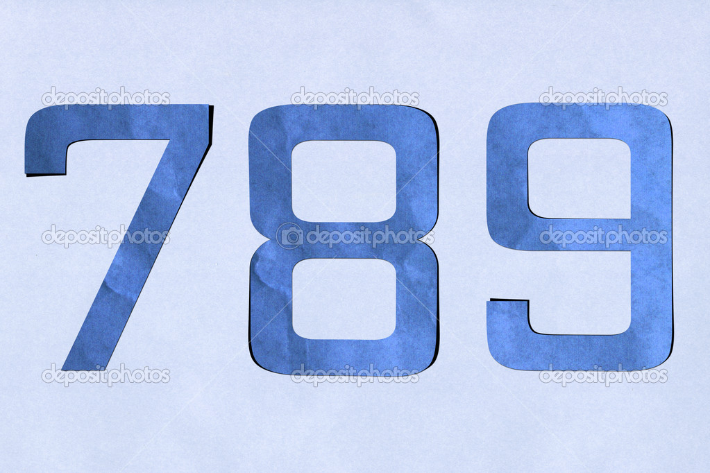 Number recycled paper craft stick on background ( 7 8 9 ) — Stock Photo #12310362