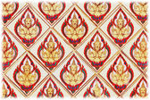Thai traditional classic pattern in decorated temple — Stock Photo