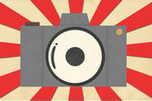 Classic camera from paper craft — Stock Photo