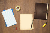 Book office papers and pen — Foto Stock