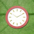Clock paper — Stock Photo