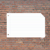 Note paper taped on background — Stock Photo