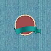 Badge on background — Stock Photo