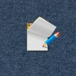 Paper note with pencil — Stok fotoğraf